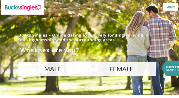 Website design for Buckinghamshire dating site