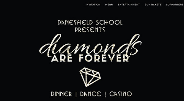 Website design for The Danesfield Ball