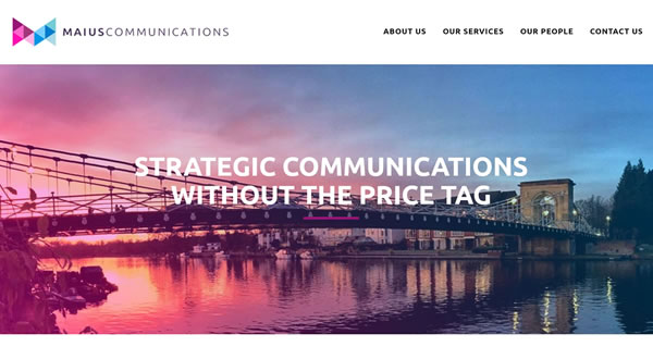 Website design for Marlow Communications company